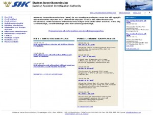 Swedish accident investigation board