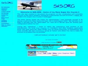 Rans S6S Coyote II Homebuilder Site