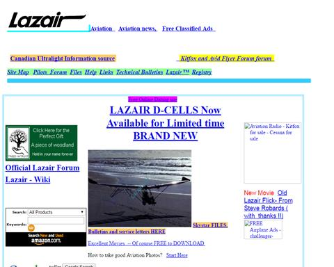 Lazair website
