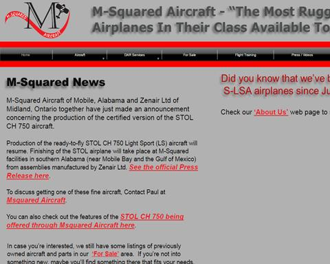 M-Squared Aircraft Inc