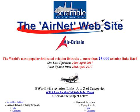 AirNet Aviation Links