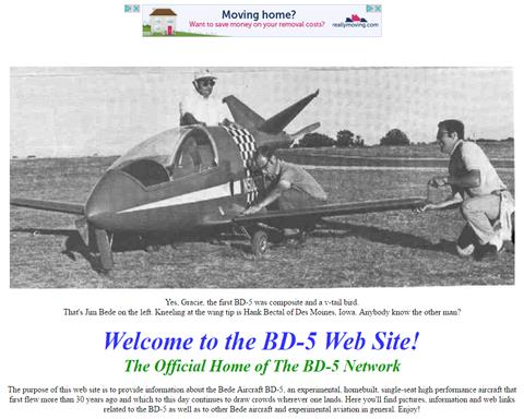 BD-5 website