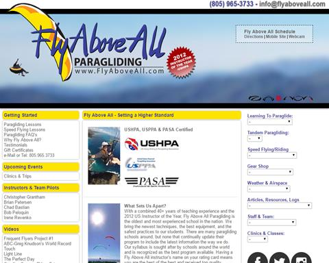 Fly Above All Paragliding