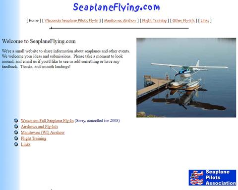 Seaplane Flying website