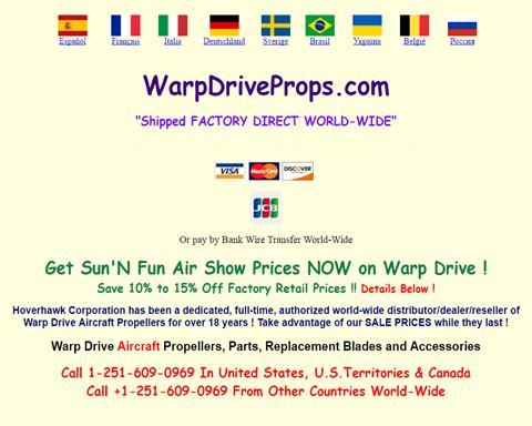 Warp Drive Aircraft Propellers