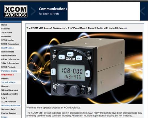XCOM Avionics   Light Aircraft DB & Sales on